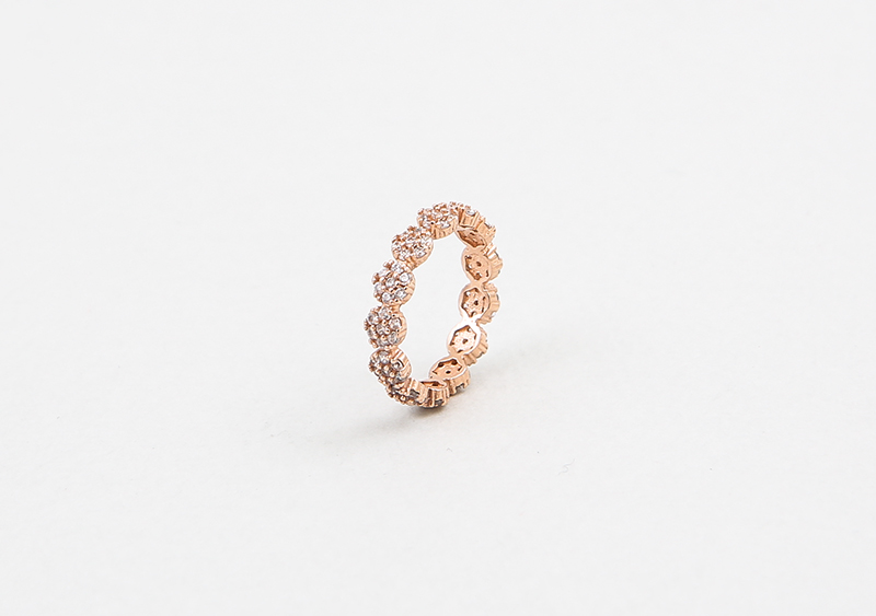 좋은옷 만드는 럭스위즈닷컴HN71AC_218   Dot diamond, clover & gold color ring