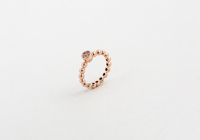 좋은옷 만드는 럭스위즈닷컴HN71AC_225   Clover deco diamond, ball & gold color ring